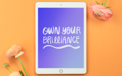 own your brilliance worksheet